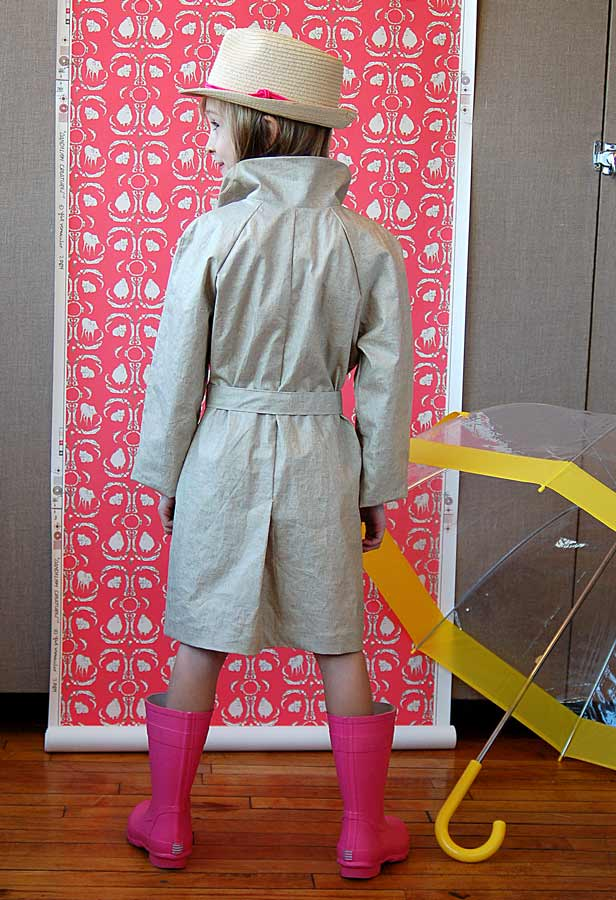 Project Fashion Trench child trench coat back
