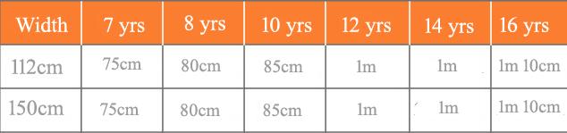 Quarter Circle skirt sizes 7-16 copy